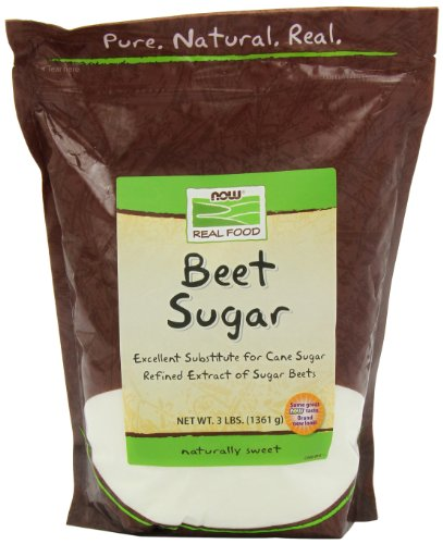 NOW Foods Beet Sugar, 3-Pound (Pack of 2) by NOW Foods