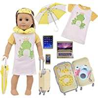 ZWSISU 8PCS Doll Accessories Travel Set for 18 inch American Girl Dolls Our Generation Dolls