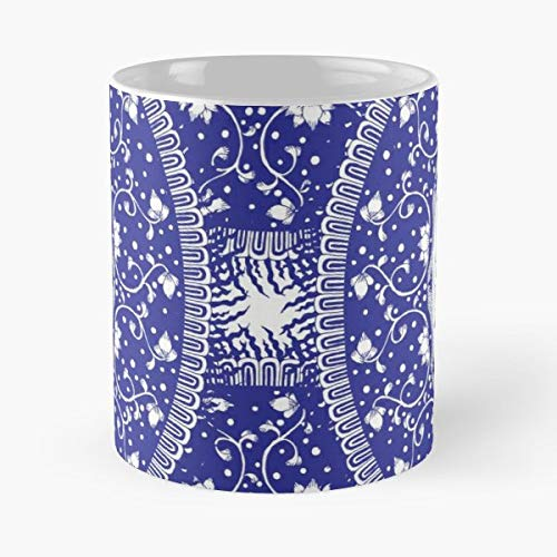 Blue And White Mandala Susan Sanford - Ceramic Mugs