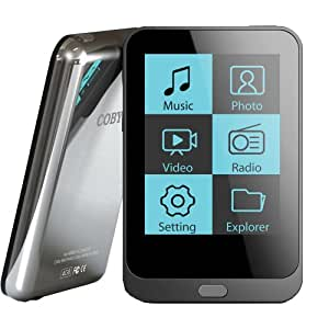 Coby MP823 Reproductor de MP4 8GB Gris - Reproductor MP3 (Reproductor de MP4, Gris, Flash-media, 8 GB, 24 h, TFT)