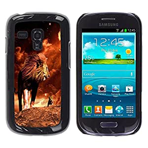 Paccase / SLIM PC / Aliminium Casa Carcasa Funda Case Cover para - Lion Mane Golden Sahara Africa Powerful - Samsung Galaxy S3 MINI NOT REGULAR! I8190 I8190N