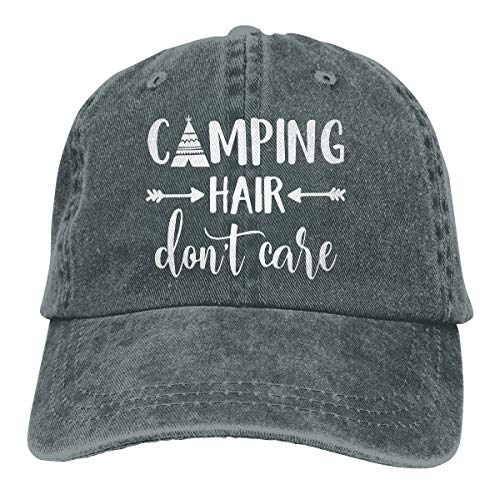 HHNLB Unisex Camping Hair Don t Care 1 Vintage Jeans Baseball Cap Classic Cotton Dad Hat Adjustable Plain Cap Asphalt