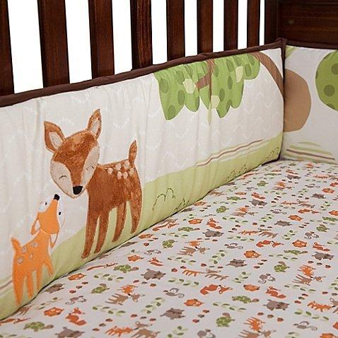 Amazon Com Woodland Tales 4 Piece Baby Crib Bedding Set