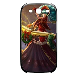 Sona-003 League of Legends LoL For Case Samsung Galaxy S4 I9500 Cover Plastic Black
