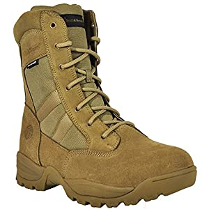 Smith & Wesson Men's Breach 2.0 Tactical Waterproof Side Zip Boots, Coyote, 10