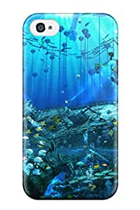 New Style 3920362K779419916 animal arsenixc bubbles chain fish Anime Pop Culture Hard Plastic iPhone 4/4s cases