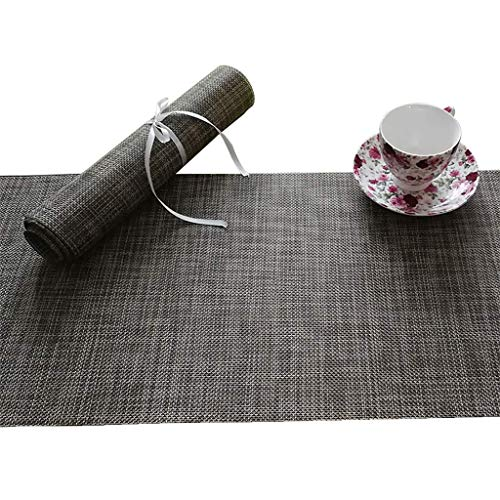 Giow Table Runner Texture Design Woven Rectangular Heat Insulation Table Runner,Hand Woven by Skilled Artisans,Unique Hand Knotted Decorative Fringe (Color : 30 100cm)