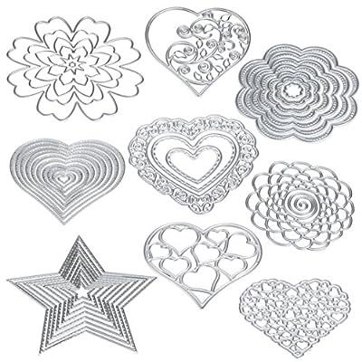 Muxika Fashion Different Patterns Exquisite Flower Heart Metal Cutting Dies Stencils DIY Scrapbooking Album Scrapbooking Die-Cuts Paper Card Craft Decoration