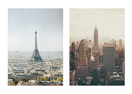 Amazon.com: Urban Wall Art, New York City and Paris Wall Decor Gift ...