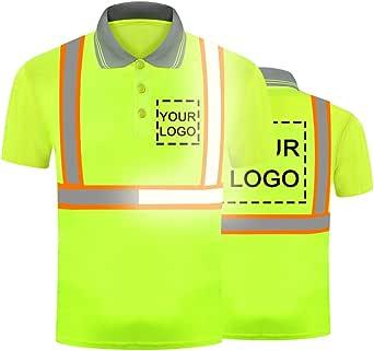 Polo de trabajo de seguridad de visibilidad de alta visibilidad personalizada su logotipo en camiseta de seguridad reflectante de alta seguridad transpirable ligero ropa de trabajo superior