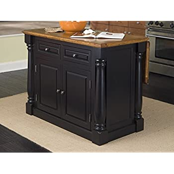 Amazon.com - Home Styles 5008-94 Monarch Kitchen Island, Black and ...