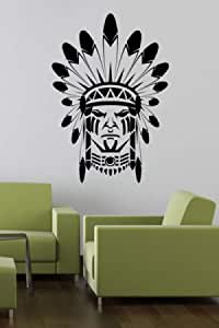 Walliv Decals Indian Face Wall Sticker Art Decal People & Characters [sdt062]