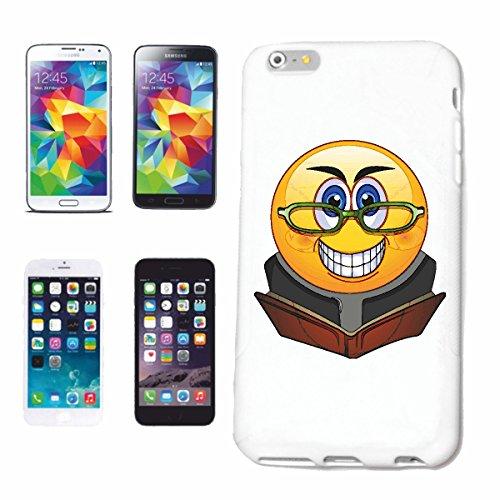 """cas de téléphone iPhone 7 """"SMILEY AVEC LUNETTES LE LIVRE READ """"smile EMOTICON APP de SMILEYS SMILIES ANDROID IPHONE EMOTICONS IOS"""" Hard Case Cover Téléphone Covers Smart Cover pour Apple iPhone en bla"""