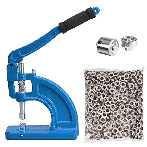 Yescom Generation II Free Stand Grommet Machine #2 Die and 600 Nickel Grommets Table Mount Hand Press Eyelet Hole Tool ()