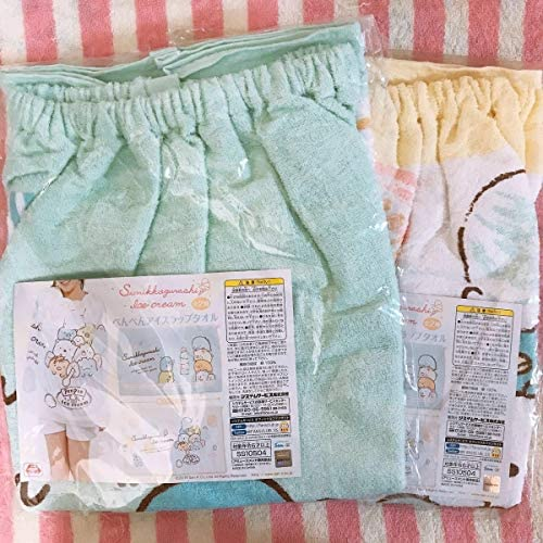 すみっコぐらし ぺんぺんアイス ラップタオル 全2種セット プールタオル 巻きタオル