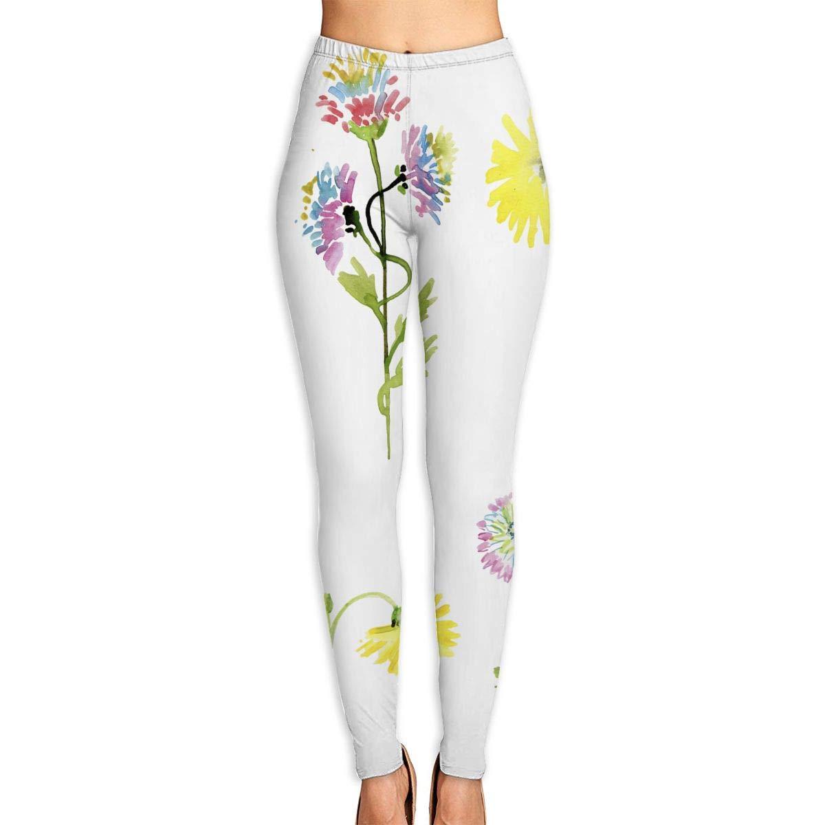 Amazon.com: Womens Yoga Pants Set Of Watercolor Drawing ...