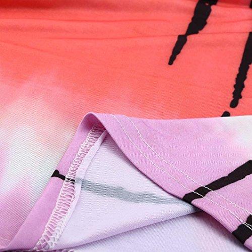 vovotrade Cambio de color de la moda de verano de las mujeres un vestido de impresión de la falda de la falda delgado