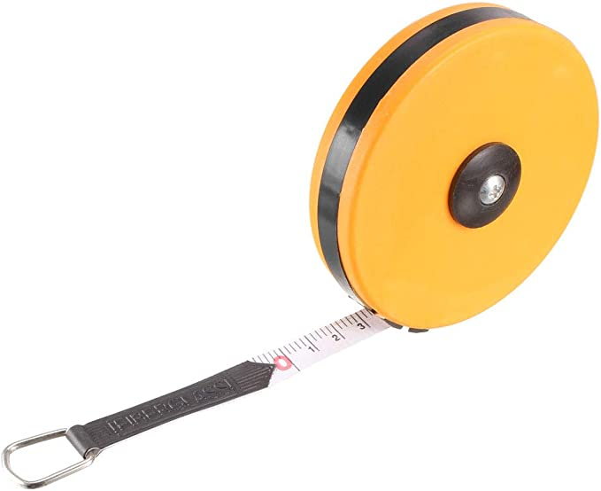 uxcell Long Tape Measure 65ft//20m Fiberglass Measuring Rule for Construction Masonry Carpentry Red