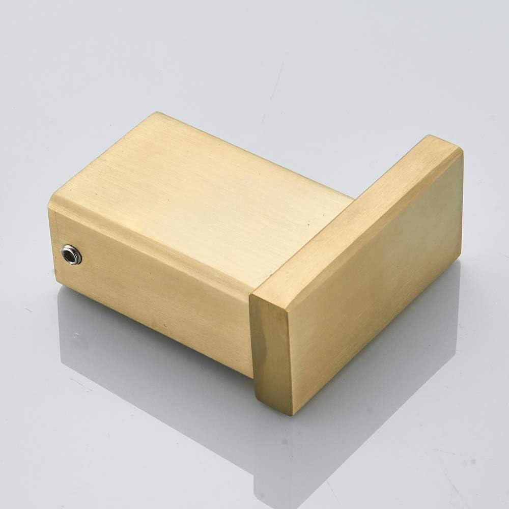 Escobilla Plateada de Ba/ño Cepillo para Inodoro Acabada con Oro Cepillado BigBig Home Escobillero de Acero Inoxidable Nunca Se Oxida