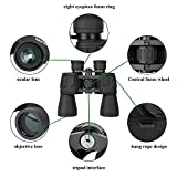 10 x 50 Powerful Binocular for Bird Watching Stargazing Outdoor Sightseeing Climbing Traveling Sport Game Concerts,Durable Portable and Fully Coated Lens,w/Carrying Case Strap Clean Cloth Lens Caps