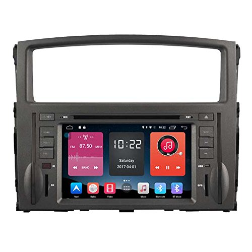 Autosion 7 inch In Dash Android 6.0 Car DVD Player Radio Head Unit GPS Navigation Stereo Gray for Mitsubishi Pajero IV 2006 - 2015 Support Bluetooth SD USB Radio OBD WIFI DVR 1080P by Autosion