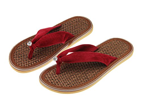 Slippers Flop Bath Girls Non Flat Platform Home Womens Glitter Studded Beach for Flip Pool Sandals Flip Sandal Fashion Spring Ladies Summer slip US Shoes Size Spa Flops Rhinestone 9 Red 5 7 Women Thong Z5xOwqST