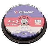 VERBATIM 43694 BD-RE Disc, 25 GB, 2x, Silver,10/Pk