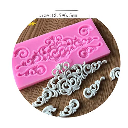 Lace Silicone Cake Mold Forms Cake Mold Retro Rome Relief Decorative Chocolate Flower Baking Pastry Silicone