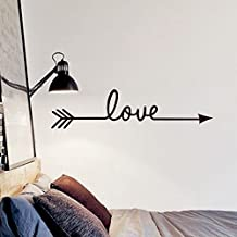 Wall Sticker Vinyl Decal Home Decoration LOVE Arrow Decorative Stickers Vinyl Decal by Delma(TM)