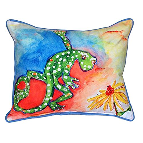Betsy Drake Colorful Gecko Lizard Extra Large 20 X 24 Indoor / Outdoor Pillow price