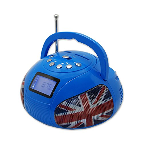 Teknofun - 811163 - Mini Boombox Bluetooth - Bleu Radios lecteurs cd et mp3