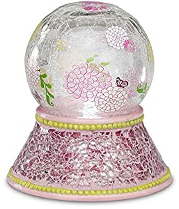 Up Words by Pavilion Pink Mosaic Tea Light Candle Holder, 5-Inch Tall, Includes Tea Light Candle