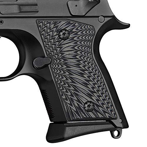 Cool Hand G10 Grips for CZ 2075 RAMI, Sunburst Texture, Grey/Black