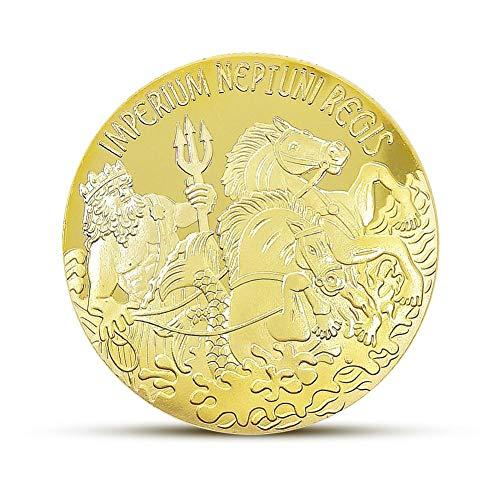 (telisii Neptune Shellback Commemorative Medal Gold Coin Sliver Coin Handicraft)