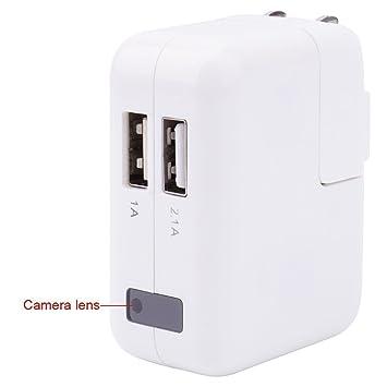 Mini Vigilancia, xingan HD1080 espía adaptador Cámara oculta ...