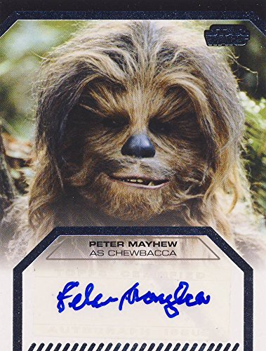 Star Wars Galactic Files Series 2 Autograph Card Peter Mayhew as Chewbacca