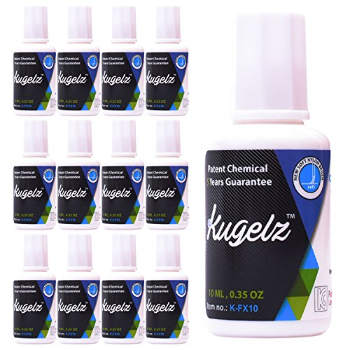 KUGELZ School and Office White Correction Fluid | Bulk Pack of 12 - Quick Drying Liquid Eraser with Brush Applicator – Covers Most Mark Inks – For Papers and Handwritten Documents – 10 ml - Correction Fluid