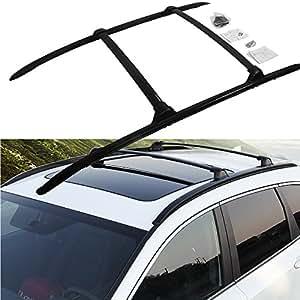 amazoncom roof rail  honda crv cr    car luggage rack baggage cross bar carrier