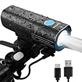 Cycloving 1000 Lumen Bike Light with Remote Switch and Power Bank. USB Rechargeable Bicycle Headlight, IPX6 Water Resistant Front Light, Easy to Install - Cycling Safety Flashlight