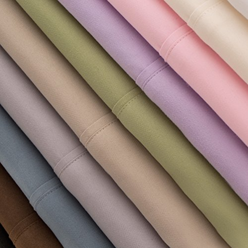 MALOUF Double Brushed Microfiber Super Soft Luxury Bed Sheet Set - Wrinkle...