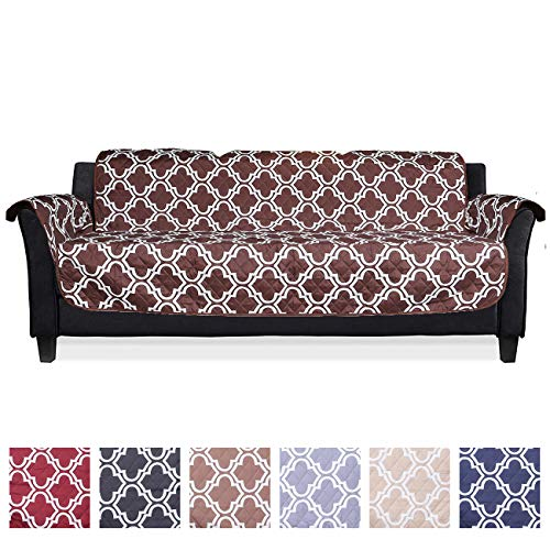 YNBY Sofa Cover, Couch Covers for 3 Cushion Couch, Reversible Quilted Furniture Protector, Sofa Covers for Living Room, Ideal Sofa Slipcovers for Pets & Children, Seat Width to 23″, Machine Washable