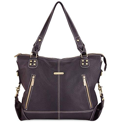 timi & leslie Kate 7 Piece Diaper Bag Set, Black Edition