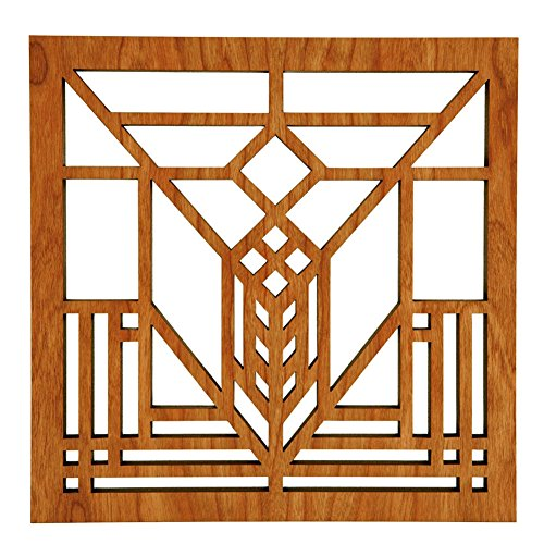 'Frank Lloyd Wright Lake Geneva Hardwood Trivet' from the web at 'https://images-na.ssl-images-amazon.com/images/I/51a6NtE16IL.jpg'
