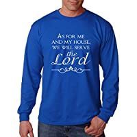 As For Me And My House Will Serve The Lord Cotton Long Sleeve T-Shirt Tee