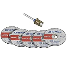 Dremel EZ406 1 1/2-Inch EZ Lock Rotary Tool Cut-Off Wheel and Mandrel Metal Cutting Starter Kit