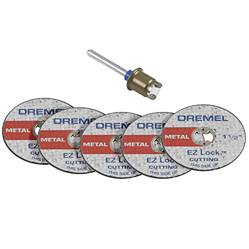 Dremel EZ406-02 1 1/2-Inch EZ Lock Rotary Tool Cut-Off Wheel and Mandrel Metal Cutting Starter -