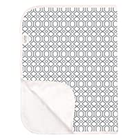 Kushies Deluxe Waterproof Changing Pad, Terry (Gray Ornament)