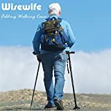 Folding Walking Cane - Collapsible Walking Stick Lightweight Adjustable Mobility Aid for the Elderly Sturdy Aluminum - Walking Cane with LED Lights