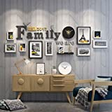 Home@Wall photo frame Photo Gallery Frame Set Of Wall With Usable Artwork And Family, Set Of 10 ( Color : B )