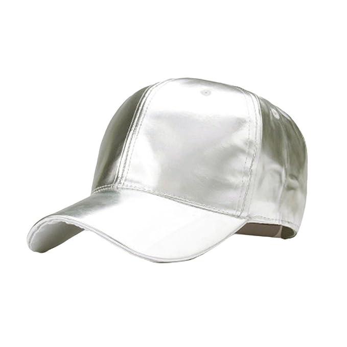 33059cde625c03 UJUNAOR Mode Frauen Männer PU-Leder Baseballmütze Visier Gold Hut Baseball  Cap Hip Hop Mütze(Beige): Amazon.de: Bekleidung